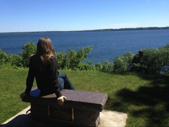 Karen looking out at lake