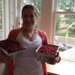 Me with fresh picked raspberries