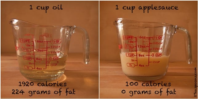 Oil Substitution Applesauce - 2Teaspoons