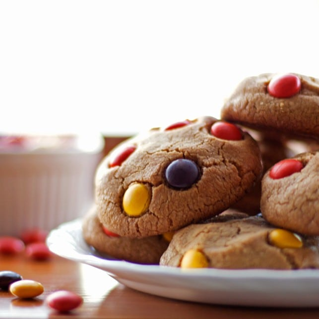 Soft Peanut Butter Cookies with Reese's Pieces - 2Teaspoons