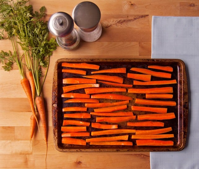 Healthy Baked Carrot Fries - 2Teaspoons