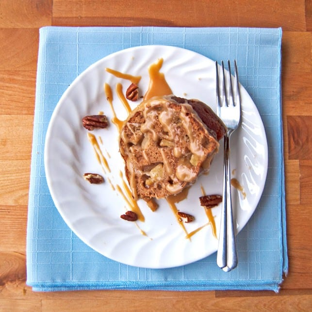 Skinny Apple Spice Cake with Caramel Sauce - 2Teaspoons