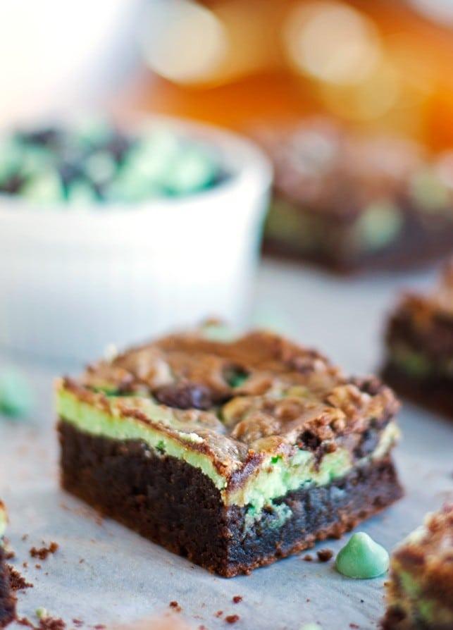 Mint Chocolate Cheesecake Brownies - 2Teaspoons