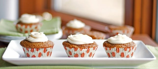 Healthy pumpkin muffins with cream cheese frosting - 2Teaspoons