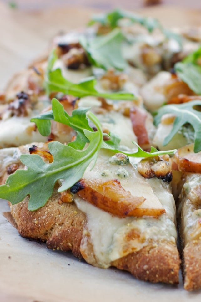 Pear, Walnut, Blue Cheese Artisan Pizza - 2Teaspoons