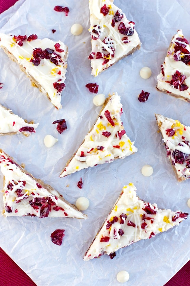 White Chocolate Cranberry Orange Bars - 2Teaspoons