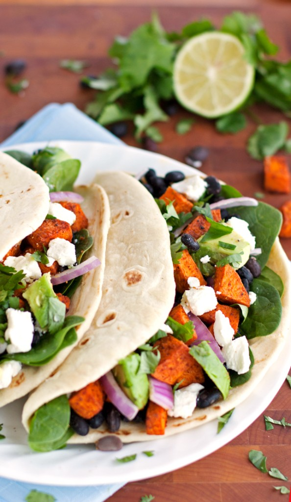 Roasted Sweet Potato Tacos - 2Teaspoons - Food Bloggers Unite: Feed a Child, Nourish a Mind!