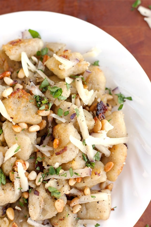 Crispy Potato Gnocchi with Pine Nuts - 2Teaspoons
