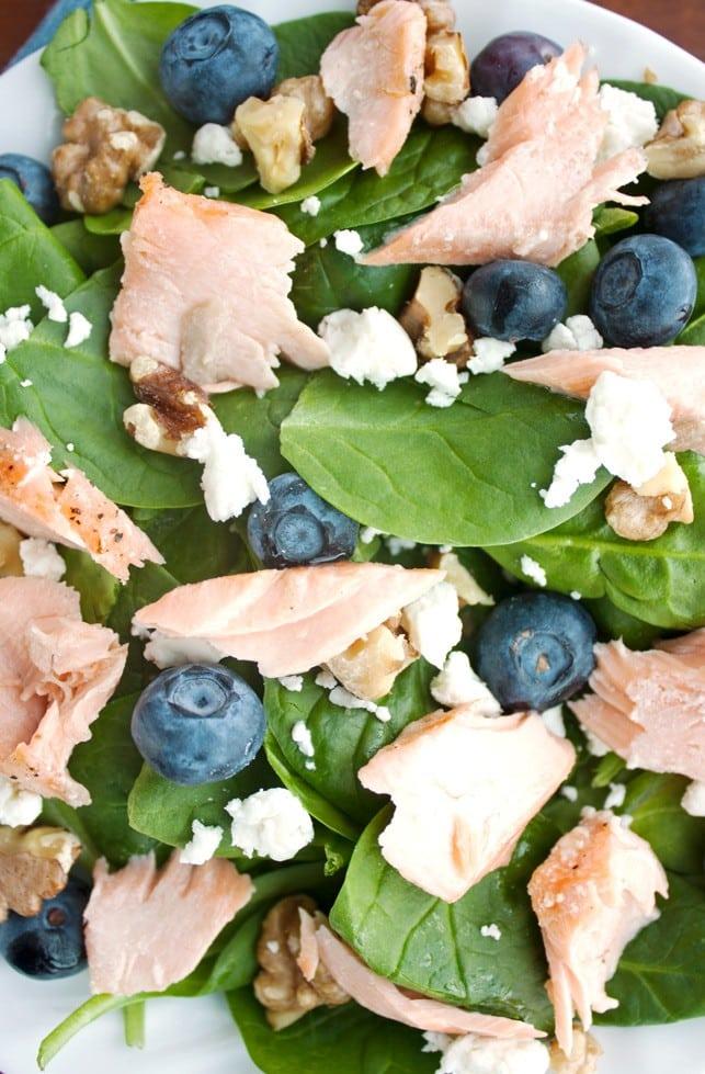 Roasted Salmon Spinach Salad - 2Teaspoons