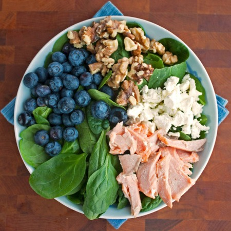 Roasted Salmon Spinach Salad - 2Teaspoons