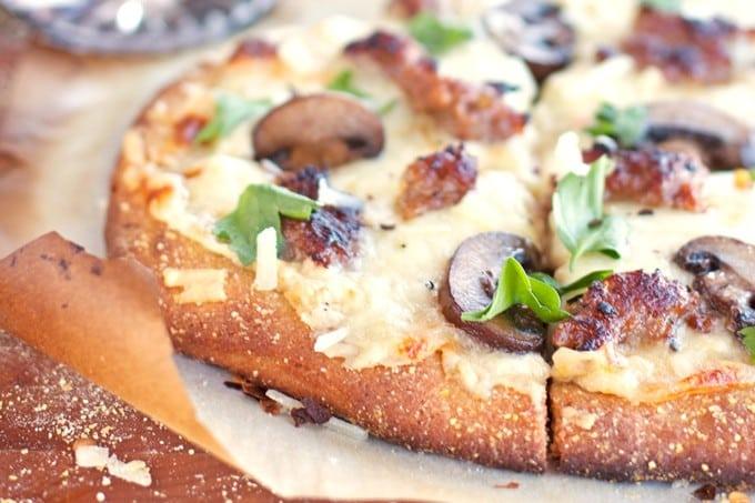 Sausage & Mushroom White Pizza - 2Teaspoons
