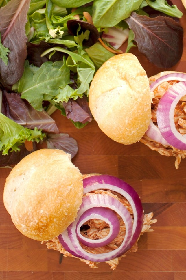 """Pulled"" BBQ Chicken Sandwiches - 2Teaspoons"