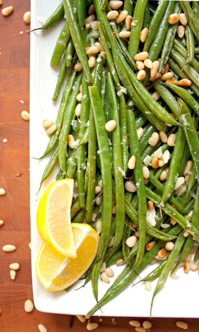 ... beans to serving plate green beans with lemon and stir fried green