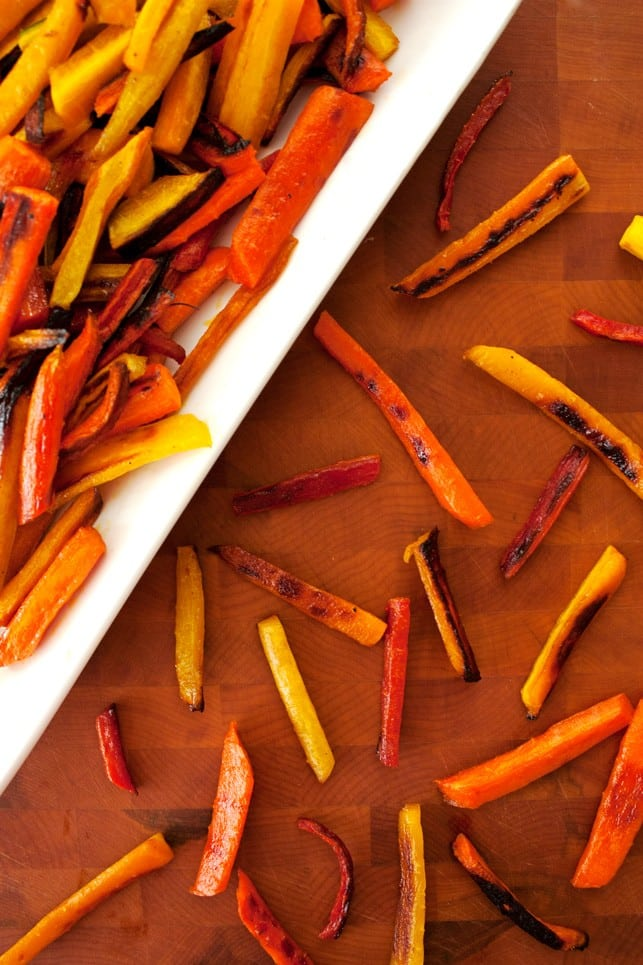 Honey Ginger Roasted Carrots