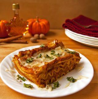 Creamy Cheesy Pumpkin Lasagna - 2Teaspoons
