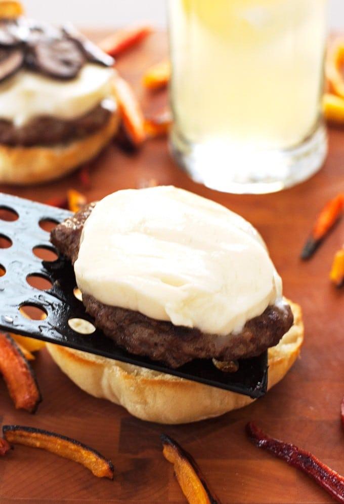 Mushroom Mozzarella Burgers - 2Teaspoons