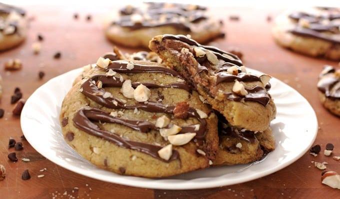 Triple Chocolate Hazelnut Cookies - 2Teaspoons