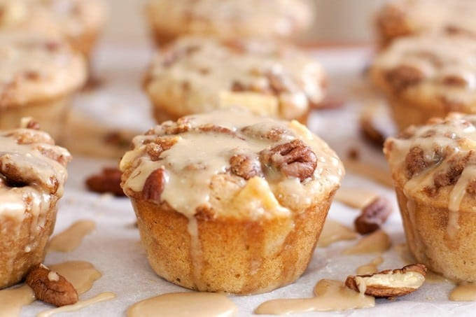 Salted Caramel Apple Muffins with Pecan Streusel - 2Teaspoons