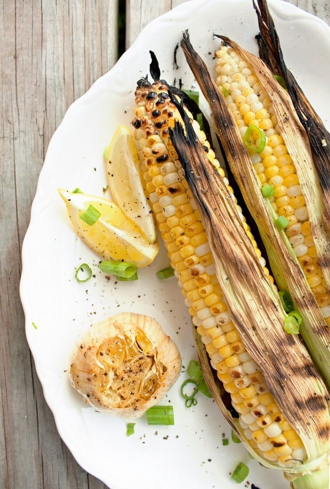 Grilled Sweet Corn on the Cob - 2Teaspoons