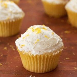 Lemon Cupcakes with Vanilla Bean Frosting - 2Teaspoons