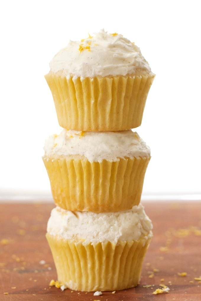 Lemon Cupcakes with Vanilla Bean Frosting - 2Teaspoons
