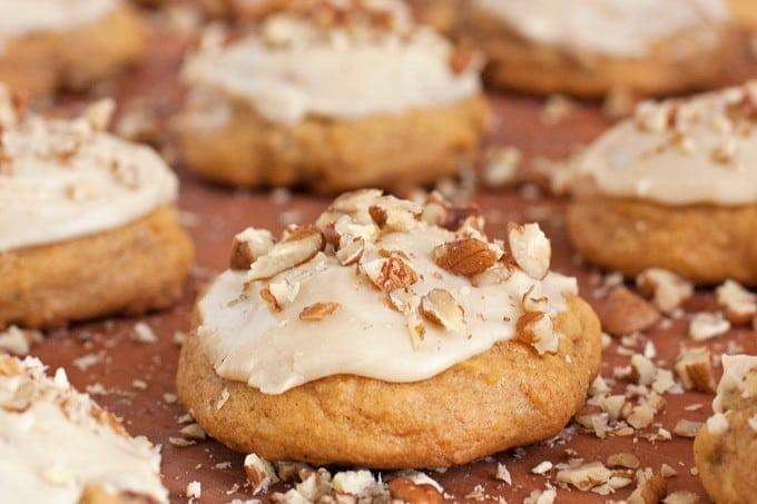 Pumpkin Cookies with Maple Glaze - 2Teaspoons