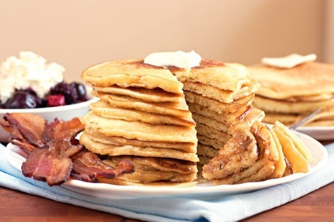 Buttermilk Pancakes with Bourbon Maple Syrup - 2Teaspoons