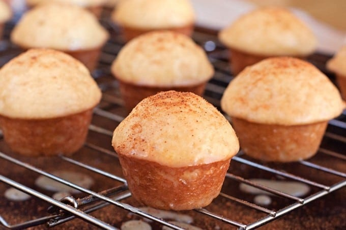 Baked Eggnog Mini Muffin Donuts with Rum Glaze - 2Teaspoons