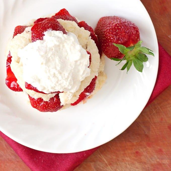 2Teaspoons - Farmer's Market Strawberry Shortcake with Fresh Whipped Cream