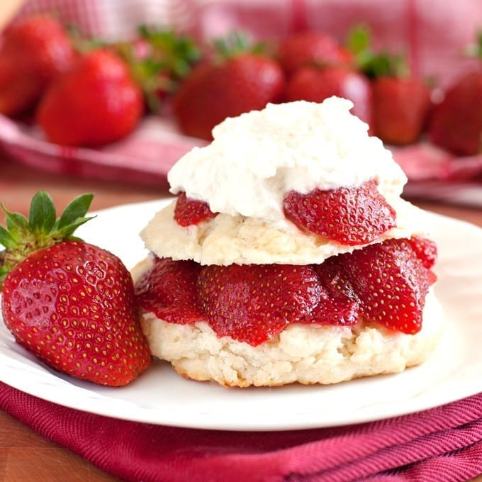 Farmer's Market Strawberry Shortcake with Fresh Whipped ...