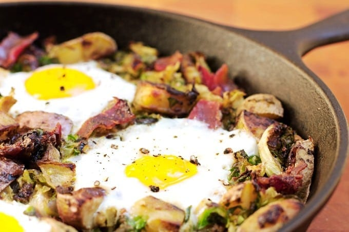 Bacon Brussels Sprouts Hash - 2Teaspoons