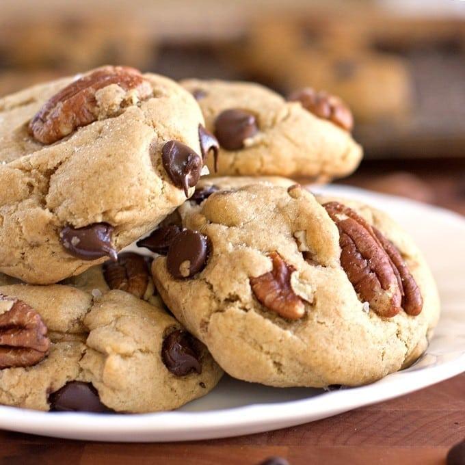 Salted Dark Chocolate Pecan Cookies - 2Teaspoons
