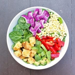 Southwest Salad with Cornbread Croutons - 2Teaspoons