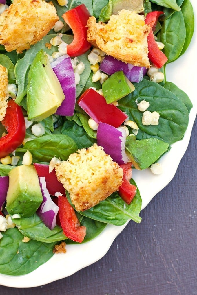 Southwest Salad with Cornbread Croutons - 2Teaspoons