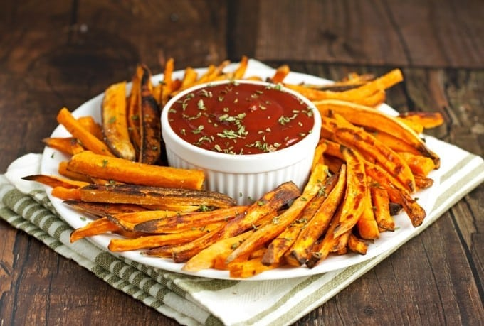 Healthy Baked Sweet Potato Fries - 2Teaspoons