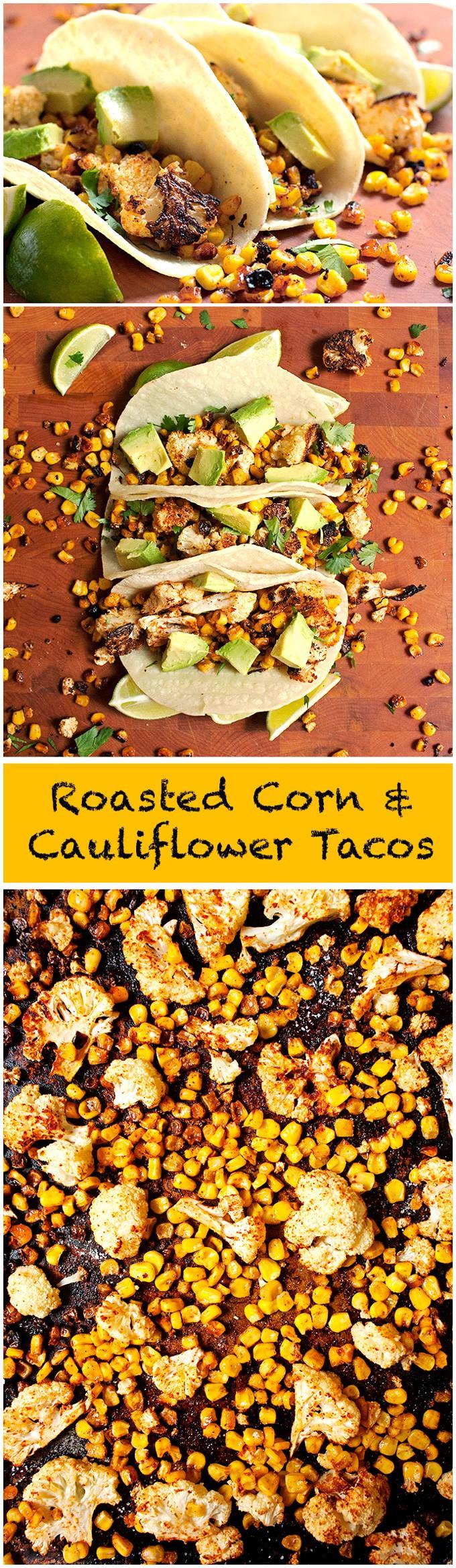 Roasted Cauliflower and Corn Tacos - 2Teaspoons