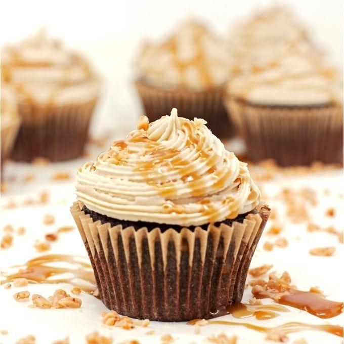 Salted Caramel Chocolate Cupcakes - 2teaspoons