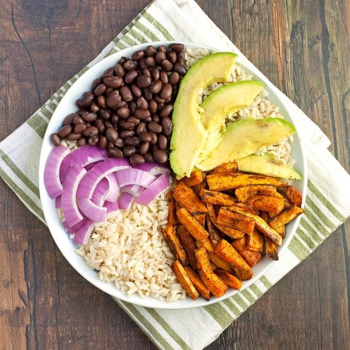 Sweet Potato Black Bean Rice Bowl - 2Teaspoons
