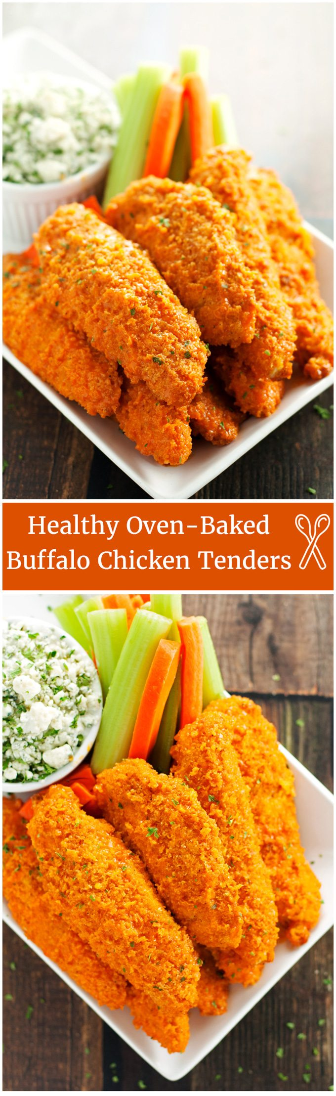 Healthy Crispy Oven-Baked Buffalo Chicken Tenders - 2teaspoons