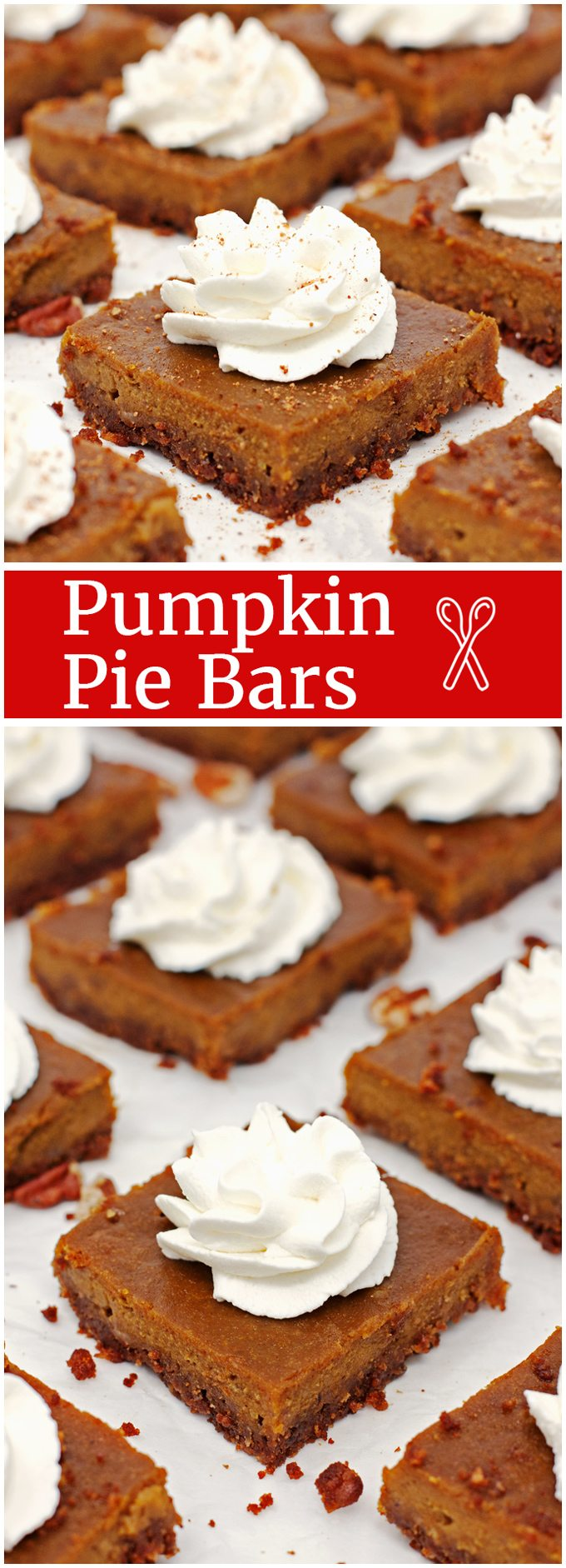Pumpkin Pie Bars: Pumpkin pie recipe without the hassle of pie crust! - 2teaspoons.com