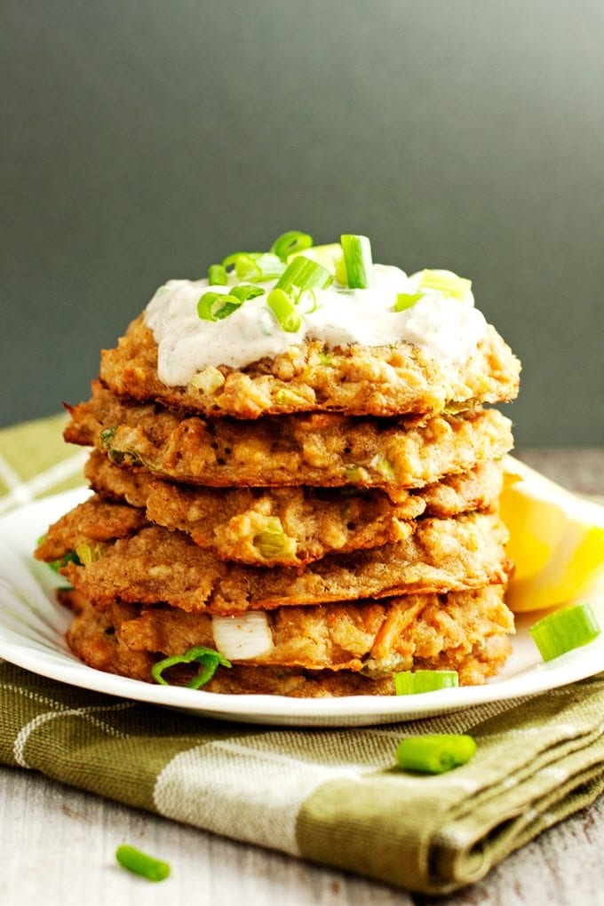 A stack of baked crab cakes.