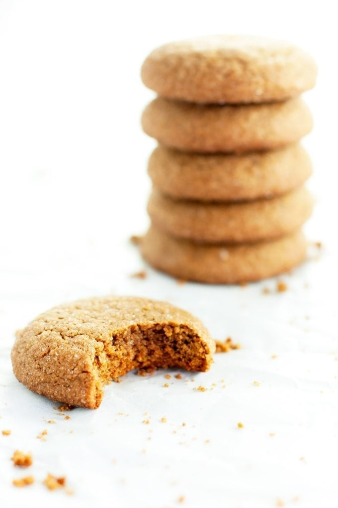 Bite of Soft Gingerbread Cookies