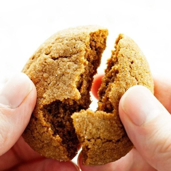 Texture of soft gingerbread cookies