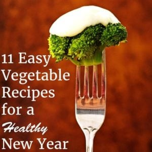 11 Easy Vegetable Recipes for a Healthy New Year - broccoli with cheese sauce on a fork